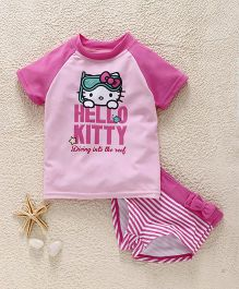 Fox Baby Two Piece Printed Swimsuit - Pink