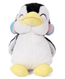 Dimpy Stuff Penguin With Ear Muffs Black And White - 25 cm