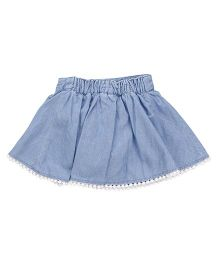 Fox Baby Skirt - Light Blue