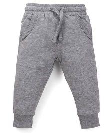Fox Baby Full Length Track Pants - Grey Melange