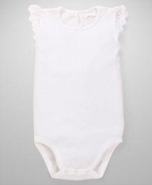 Fox Baby Short Sleeves Onesies - Off White