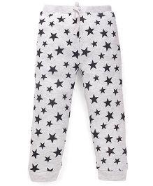 Fox Baby Full Length Track Pants Star Print - Melange Grey
