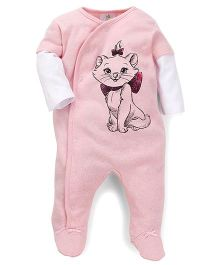 Fox Baby Footed Romper Marie Print - Light Pink