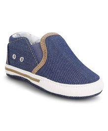 Fox Baby Slip-On Booties - Denim Blue