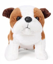 Wild Republic Bull Dog Soft Toy White And Brown - 33 cm