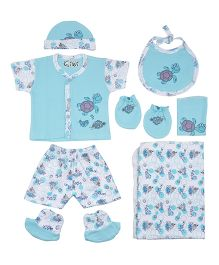 Kiwi Blue Ocean Print Gift Set Pack of 7 - Blue