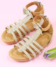 LCL Ankle Length Sandals With Bow - Rose Gold