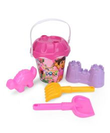 Dora Beach Bucket With Accessories - Pink Yellow