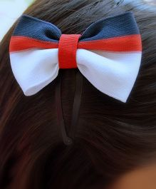 Pretty Ponytails Contrast Bow Applique Hairclip - Red Black & White