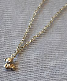 Pretty Ponytails Teddy Bear Pendant Chain - Silver