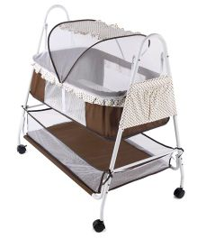 funky baby furniture. Baby Cradle With Mosquito Net - Cream Brown Funky Furniture F