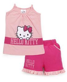 Hello Kitty by Babyhug Singlet Top & Short Set - Pink