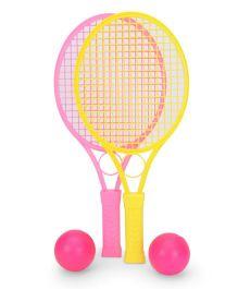 Mansaji Racket Set - Pink Yellow
