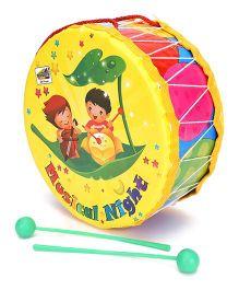 Mansaji Rock Drum Toy - Yellow Pink