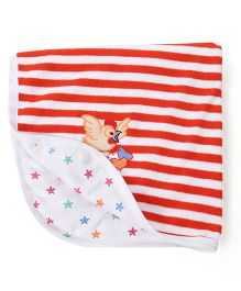 Tinycare Striped Print Towel - Red