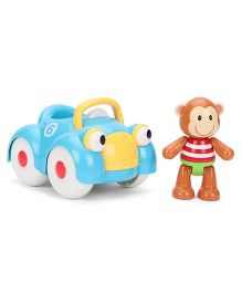 ELC Toy Box Monkey Car - Blue And Brown