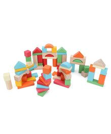 ELC Wooden Bricks - Multi Color
