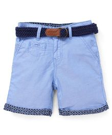 Gini & Jony Shorts With Belt - Blue