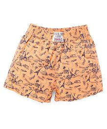 Palm Tree Shorts Multiprint - Light Orange