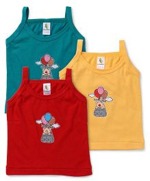Cucumber Singlet Slips Pack of 3 - Yellow Red Green