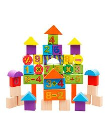 Emob Wooden Digital Blocks With Attractive Colour Puzzle Learning Game - 42 Pieces