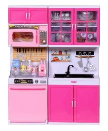 Emob Attractive Modern Kitchen Playset - Pink And White
