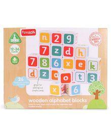 ELC Wooden Alpha Blocks - Multicolor