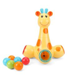 ELC Pop & Drop Giraffe - Yellow