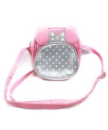 Kidofash Character Sling Bag With Adjustable Belt - Silver & Pink