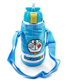 Kidofash Cartoon Steel Insulated Sipper With Bottle Cover 500 Ml - Blue