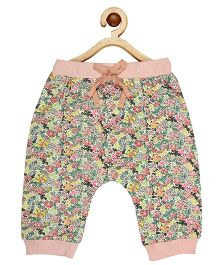 My Lil Berry Floral Print Pajama - Peach