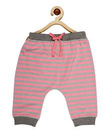 My Lil Berry Stripe Pajama - Pink And Grey