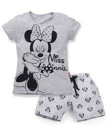 Proteens-Bodycare Minnie Mouse Print Night Suit - Grey