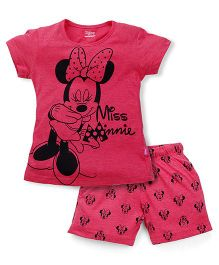 Proteens-Bodycare Minnie Mouse Print Night Suit - Pink