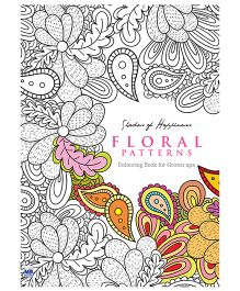 Coloring Books for Grown Ups Floral Patterns - English