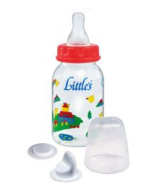 Little's Mini Feeding Bottle With Designer Print (Color May Vary)