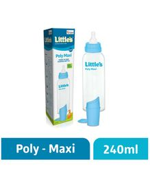 Little's Poly Maxi Feeding Bottle - Blue