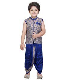 Shree Shubh Brocade Ethnic Dhoti Kurta Set - Blue