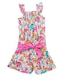 Soul Fairy Zoo Print Jumper - Pink
