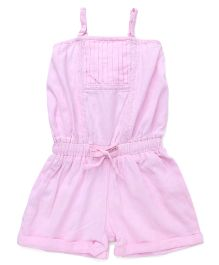 Soul Fairy Flax Jumpsuit With Lace Inserts - Pink