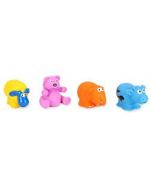 Giggles Animal Shaped Squeaky Bath Toys Pack of 4 (Color & Design May Vary)