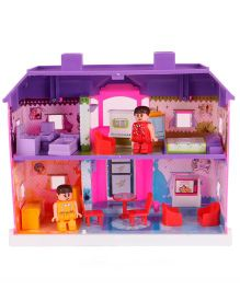 Toyzone Disney Princess My Country Doll House Pink And Purple - 24 Pieces