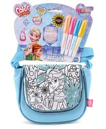Disney Frozen Color Me Mine Spring Sequin Sling Bag - Blue Edition