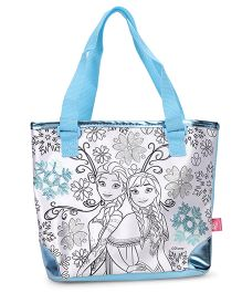 Disney Frozen Color Me Mine Sequin Tote Bag - Blue