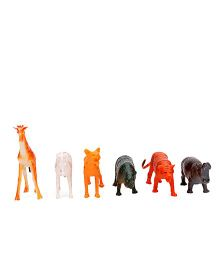 Smiles Creation Wild Animal Set Pack Of 6 - Multicolor