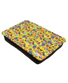The Crazy Me Quirk Up Pattern Printed Lap Tray - Yellow