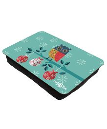 The Crazy Me Owl Printed Lap Tray - Aqua Green
