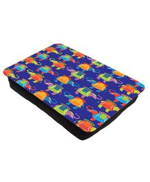 The Crazy Me Elephant Printed Lap Tray - Dark Blue