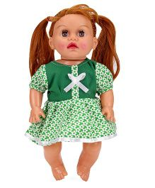Speedage Tannu Doll Floral Print Green - Height 30 cm