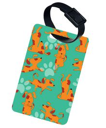 The Crazy Me My Pet Best Friend Printed Luggage Tag - Light Green